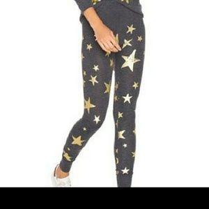 Chaser Gray Stars Leggings